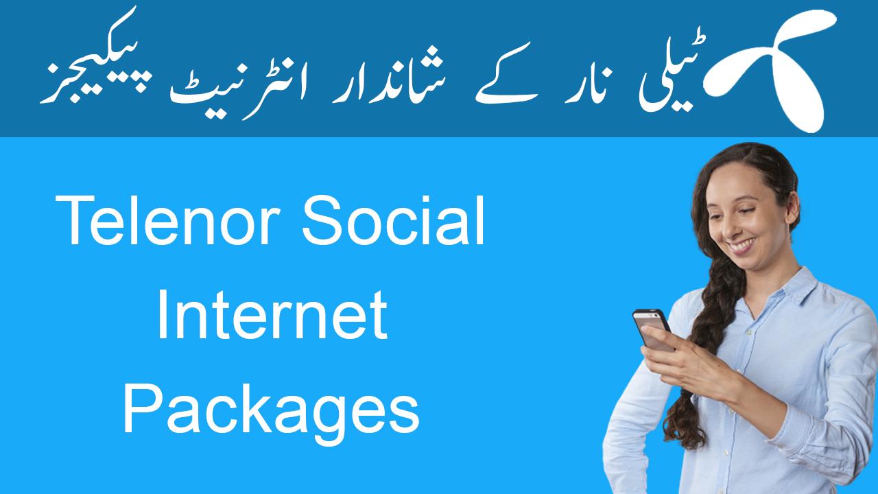 Telenor-Social-Internet-Packages