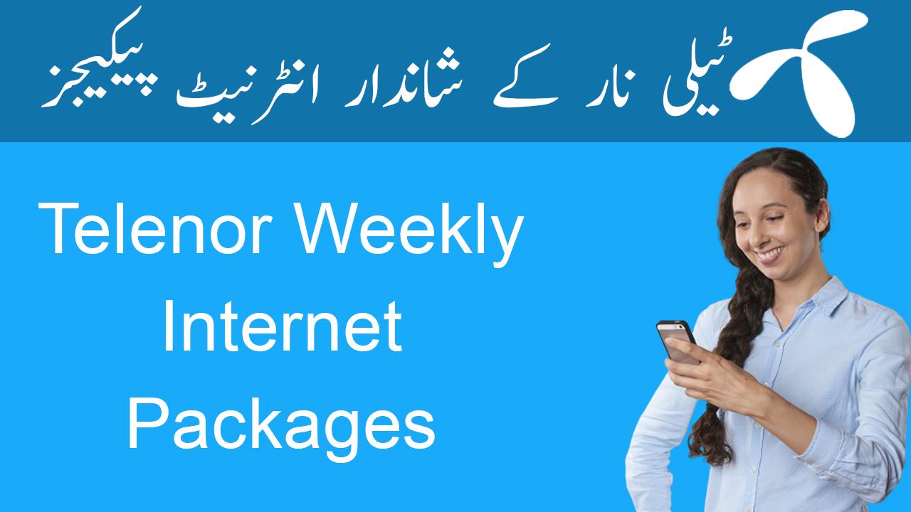 Telenor-Weekly-Internet-packages