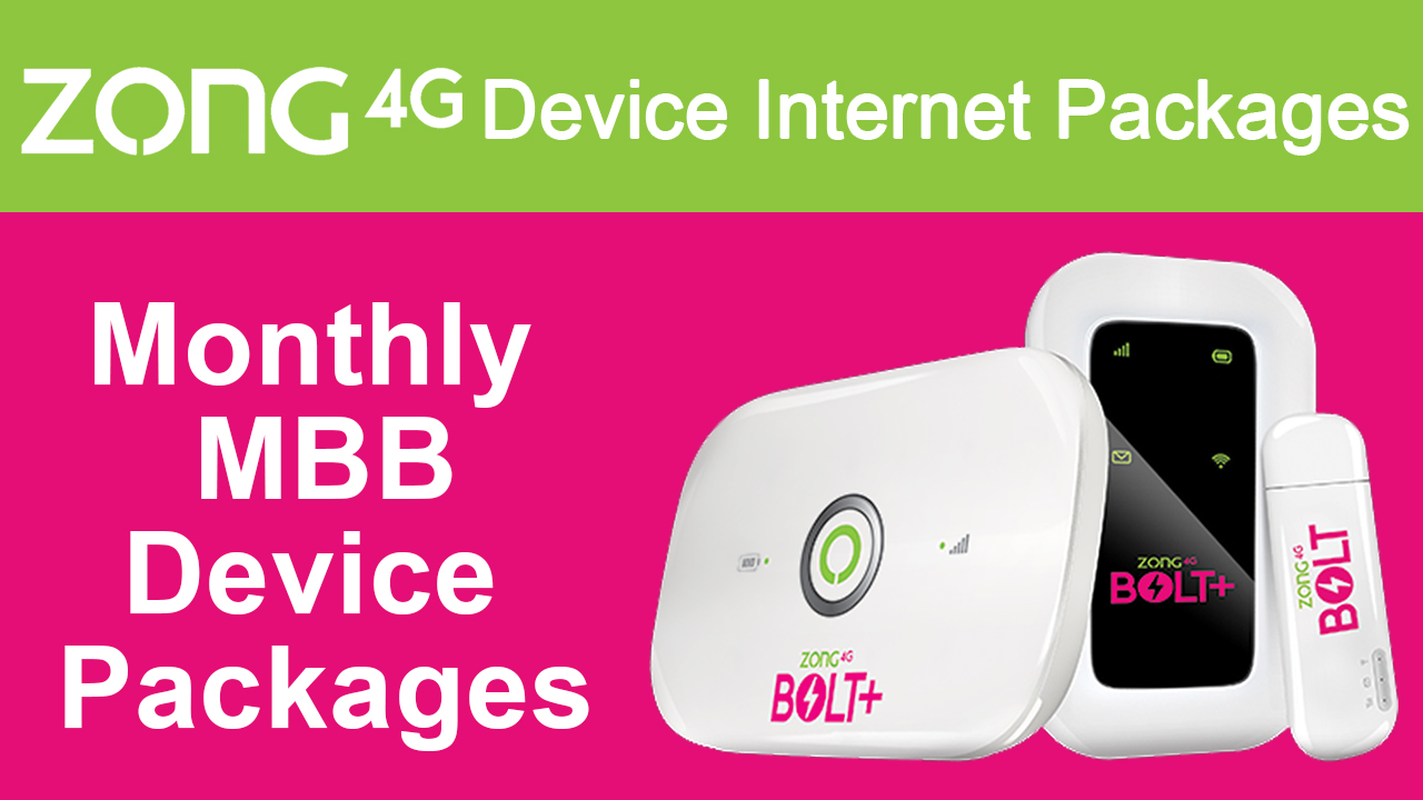 Zong-Device-Internet-Packages