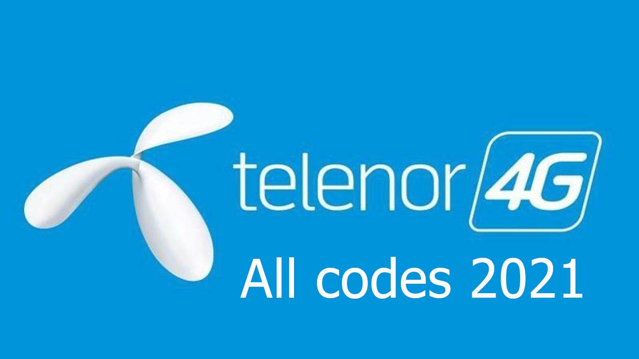 Telenor-all-codes-2021