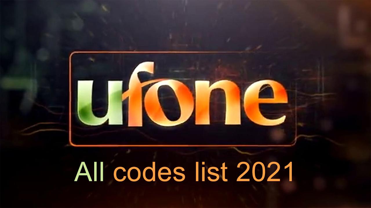 Ufone-all-code-list-2021